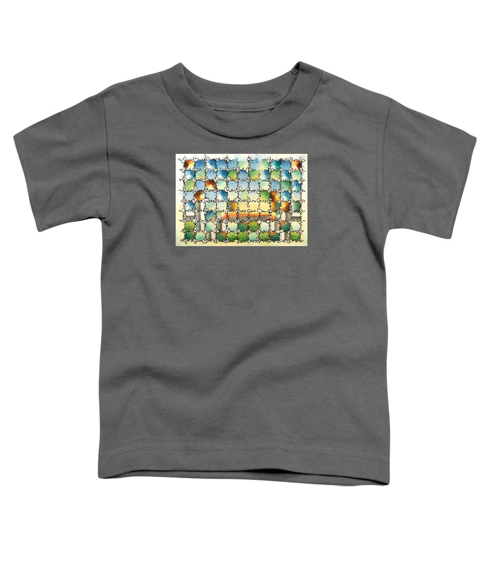 Watercolor Toddler T-Shirt featuring the painting Morning Gateway by Dave Martsolf