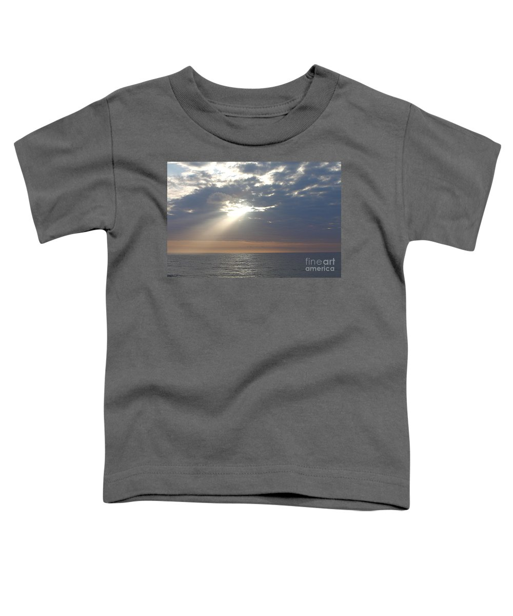 Sky Toddler T-Shirt featuring the photograph Morning Sunburst by Nadine Rippelmeyer