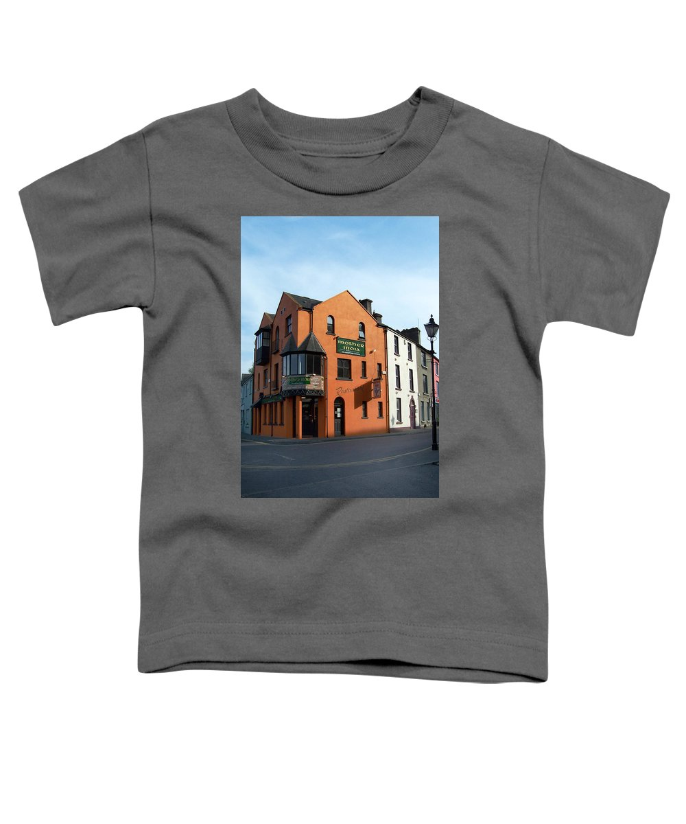 Ireland Toddler T-Shirt featuring the photograph Mother India Restaurant Athlone Ireland by Teresa Mucha