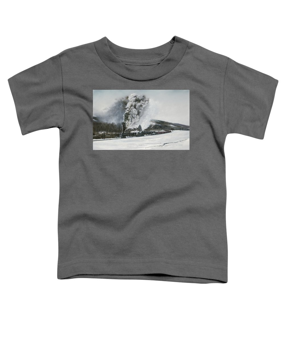 Trains Toddler T-Shirt featuring the painting Mount Carmel Eruption by David Mittner