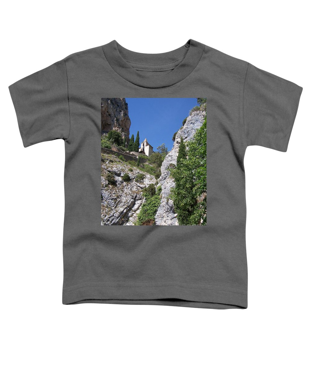 Church Toddler T-Shirt featuring the photograph Moustier St. Marie Church by Nadine Rippelmeyer
