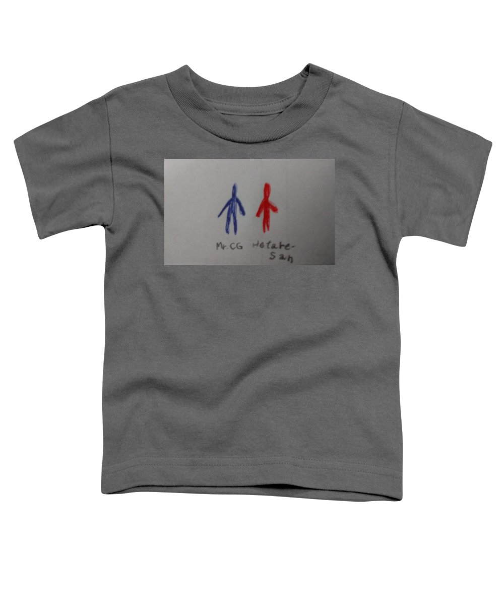 #characters Toddler T-Shirt featuring the drawing Mr.cgandhetare-san by Sari Kurazusi