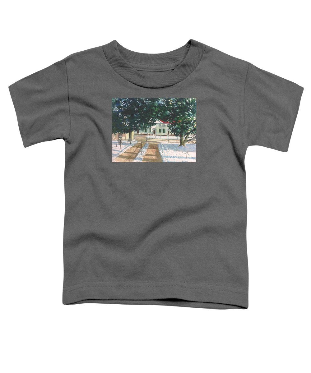 Landscape Toddler T-Shirt featuring the painting Mt. Vernon After The Visitors Have All Gone Home by Tom Harris