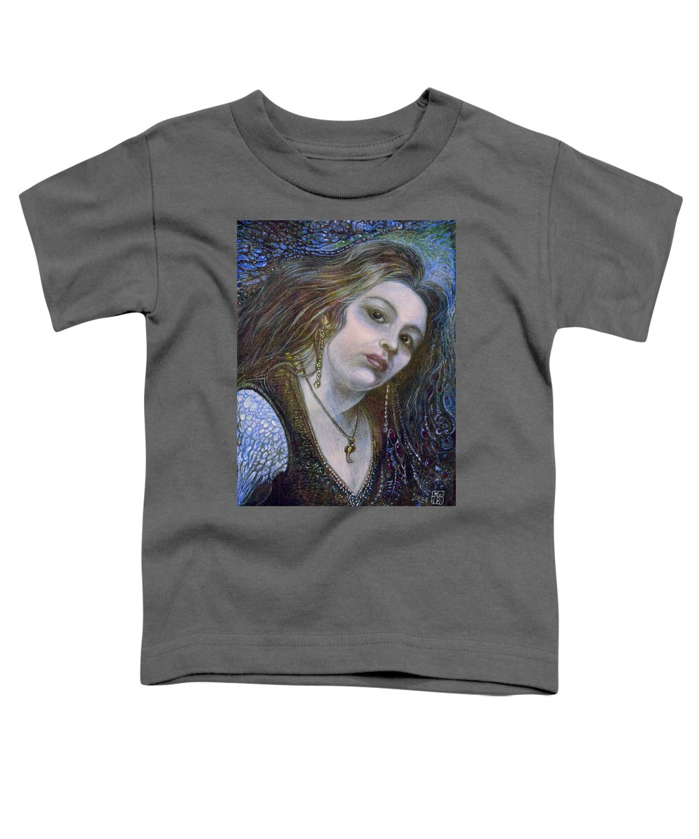 Fantasy Toddler T-Shirt featuring the painting My Mermaid Christan by Otto Rapp