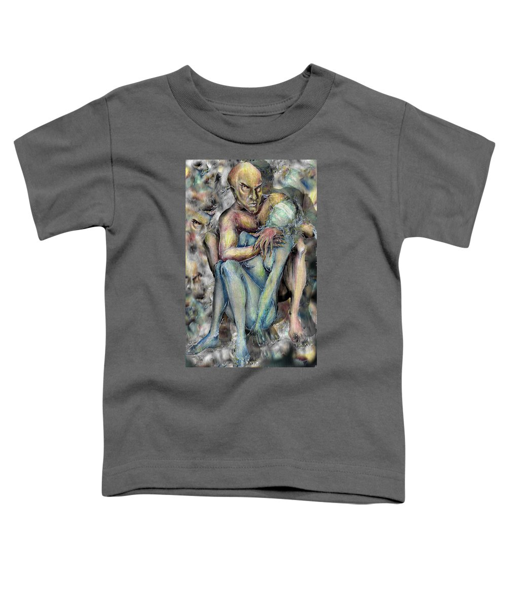 Demons Love Passion Control Posession Woman Lust Toddler T-Shirt featuring the mixed media My Precious by Veronica Jackson