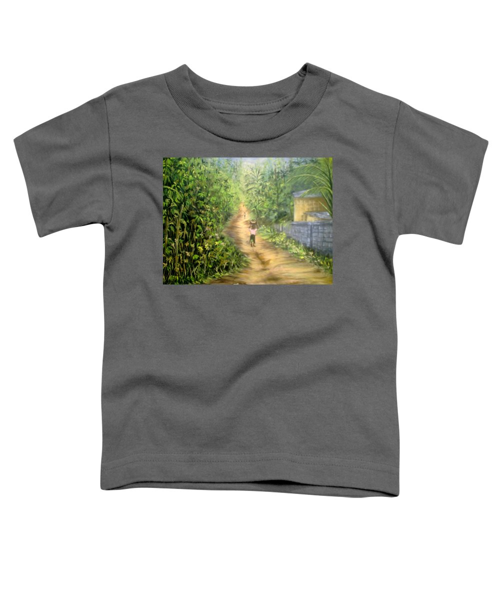 Culture Toddler T-Shirt featuring the painting My Village by Olaoluwa Smith