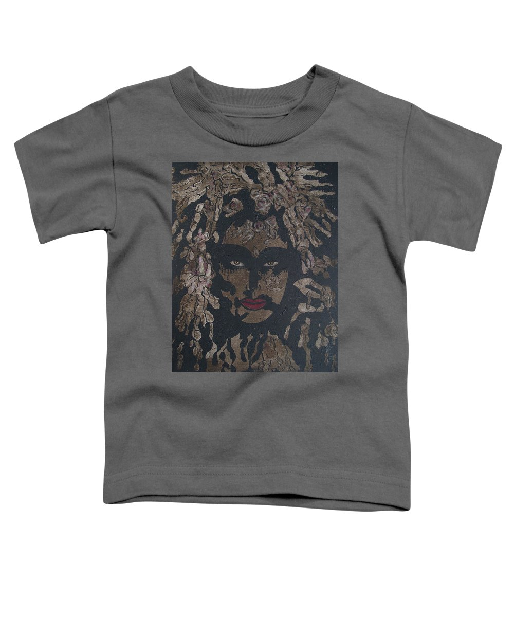 Figurative Toddler T-Shirt featuring the painting Mysterious Desire by Natalie Holland