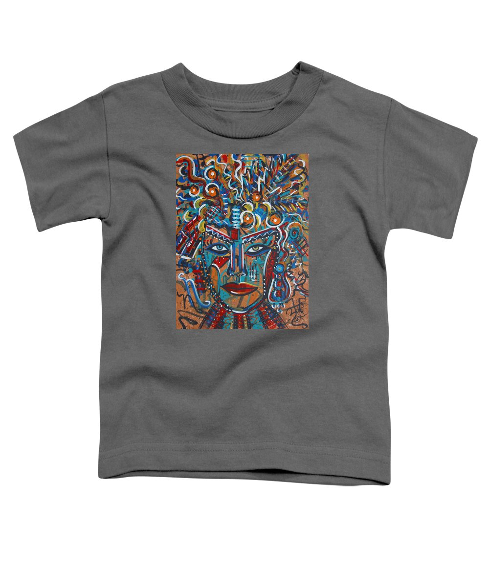 Abstract Toddler T-Shirt featuring the painting Nataliana by Natalie Holland