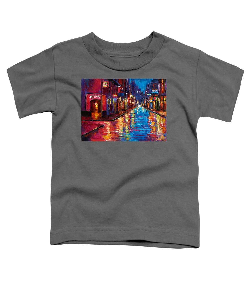 New Orleans Toddler T-Shirt featuring the painting New Orleans Magic by Debra Hurd