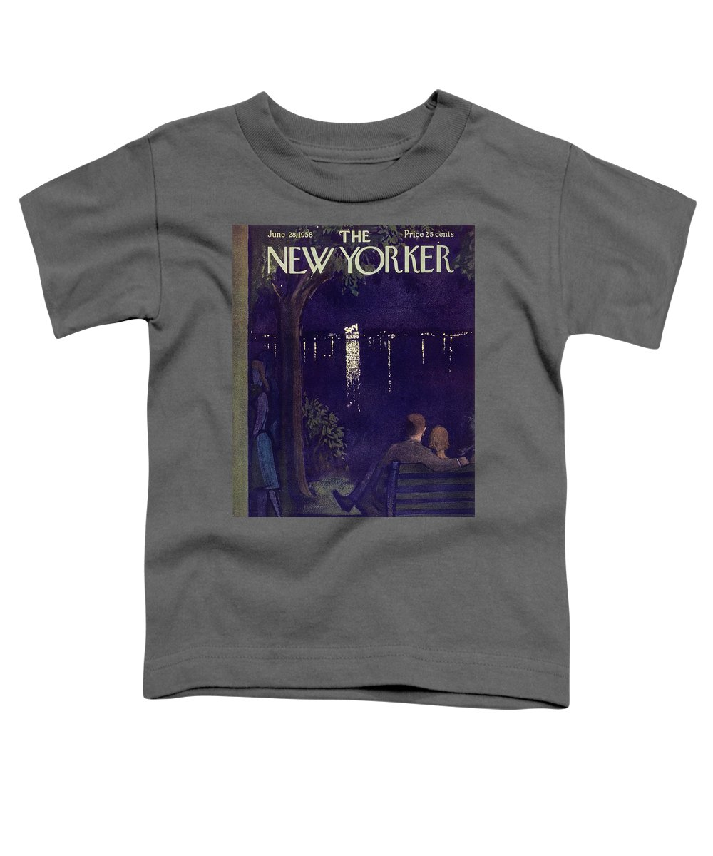Couple Toddler T-Shirt featuring the painting New Yorker June 28 1958 by Arthur Getz