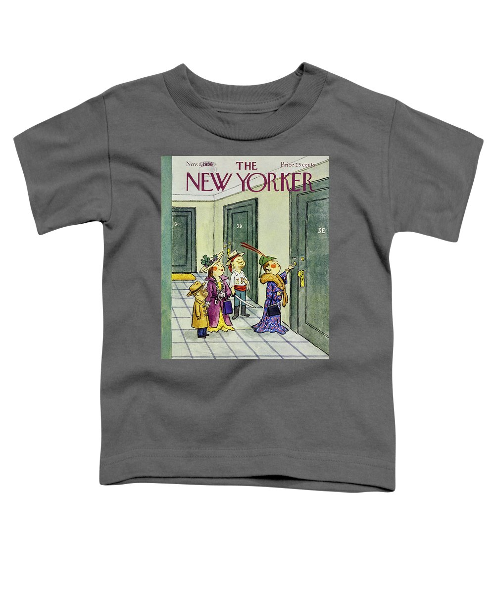 Children Toddler T-Shirt featuring the painting New Yorker November 1 1958 by William Steig