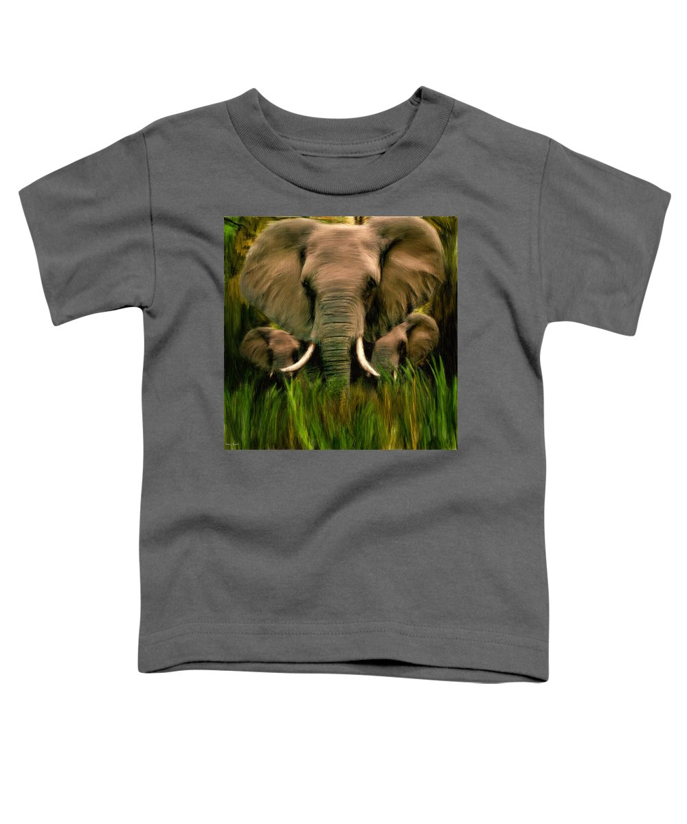 Elephant Toddler T-Shirt featuring the photograph Noble Ones by Lourry Legarde