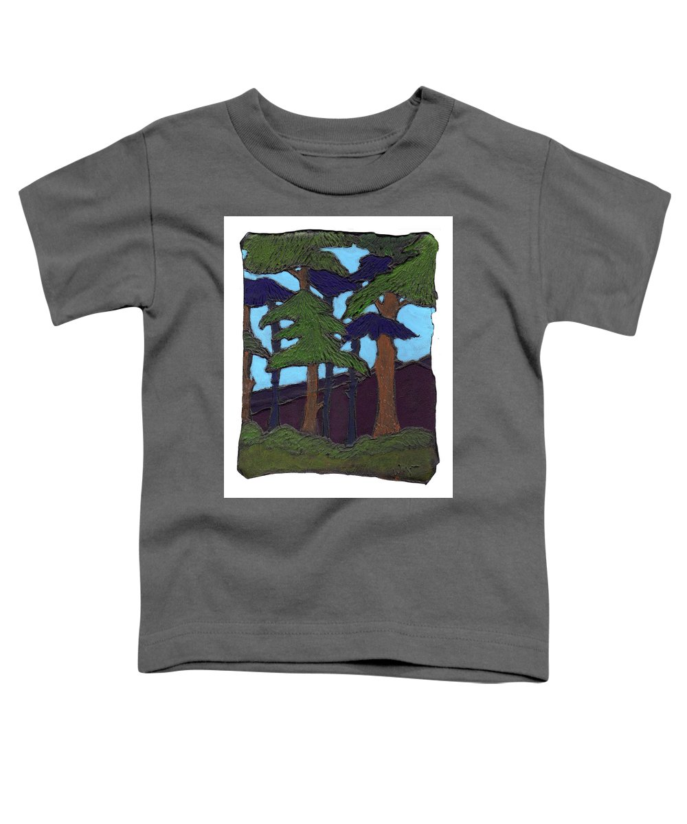 Tree Toddler T-Shirt featuring the painting Northern Woods by Wayne Potrafka