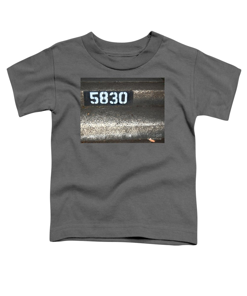 Numbers Toddler T-Shirt featuring the photograph Numbers by Debbi Granruth