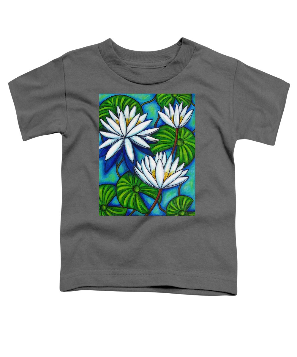 Lily Toddler T-Shirt featuring the painting Nymphaea Blue by Lisa Lorenz
