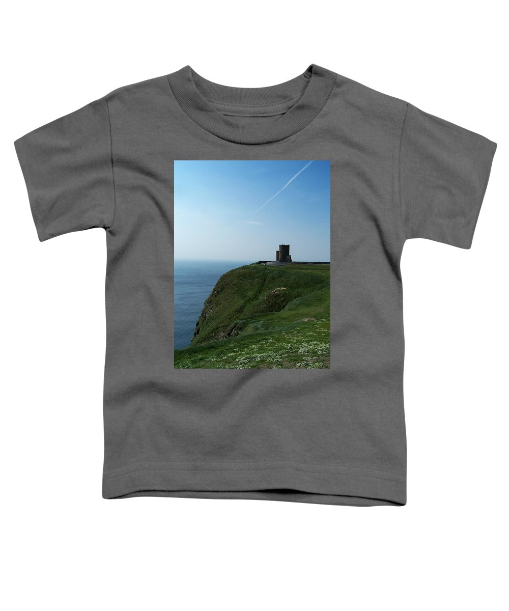 Irish Toddler T-Shirt featuring the photograph O'brien's Tower At The Cliffs Of Moher Ireland by Teresa Mucha