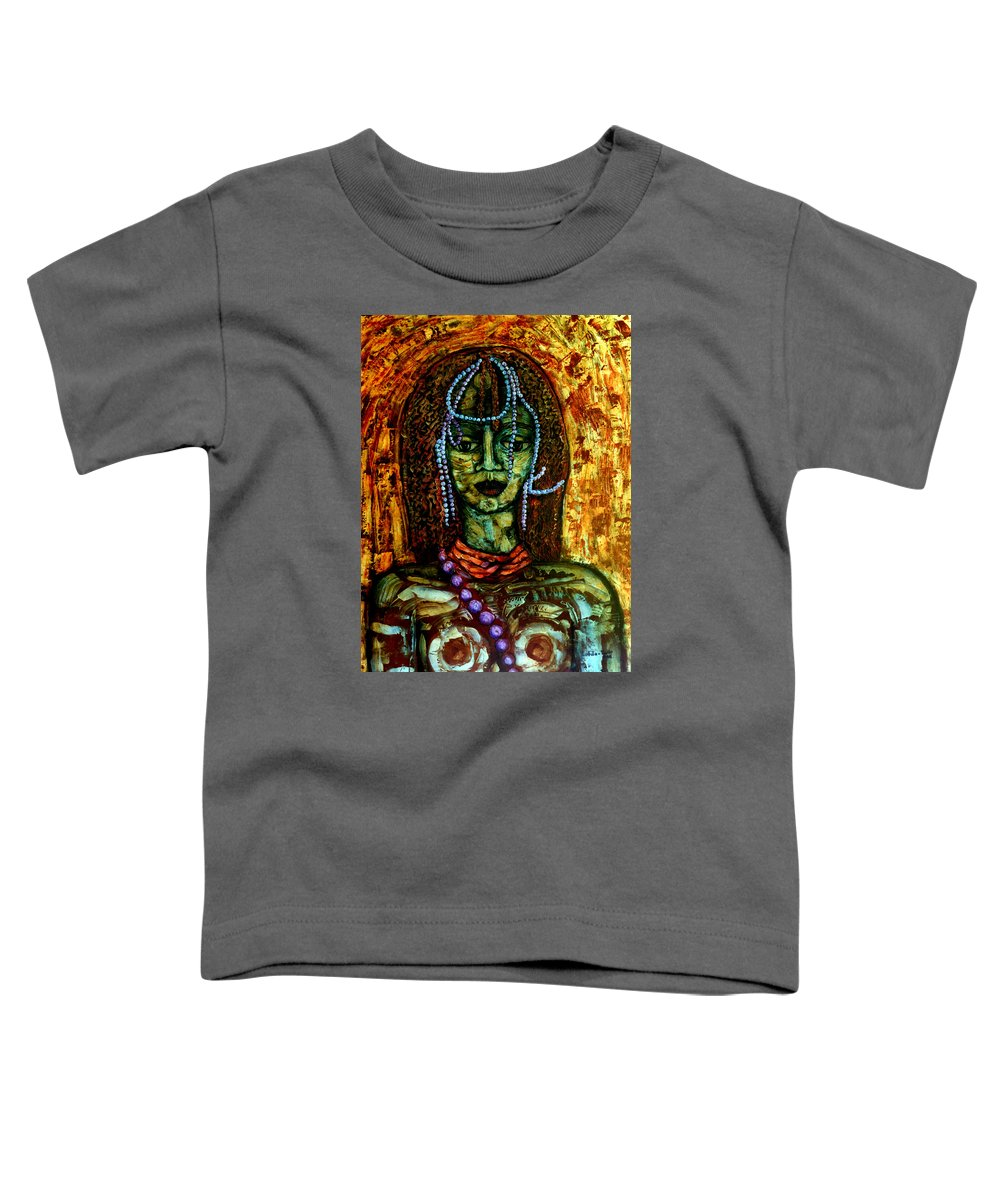 Memories Toddler T-Shirt featuring the painting Of Another Childhood I Keep Memories by Madalena Lobao-Tello