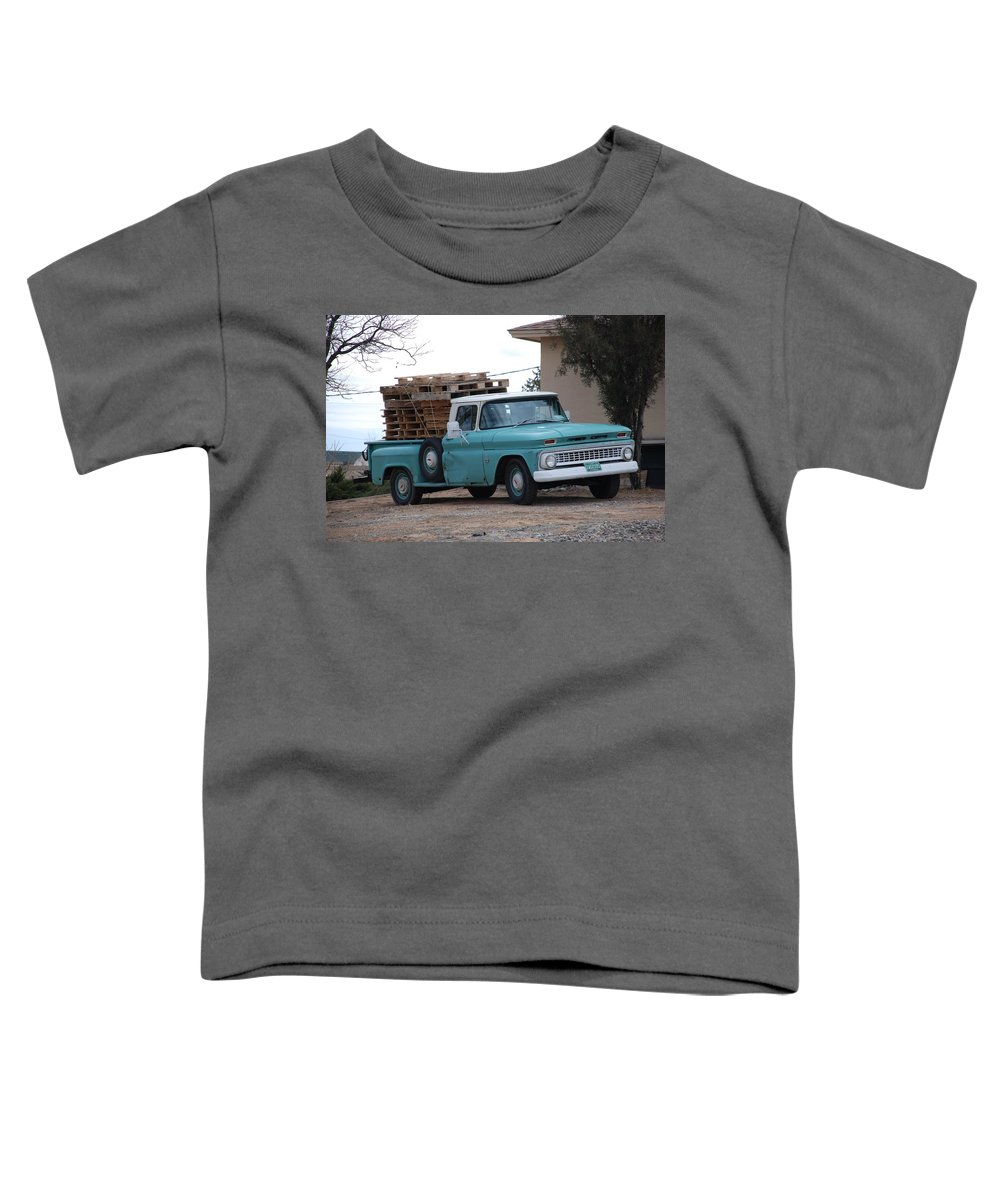 Old Truck Toddler T-Shirt featuring the photograph Old Chevy by Rob Hans
