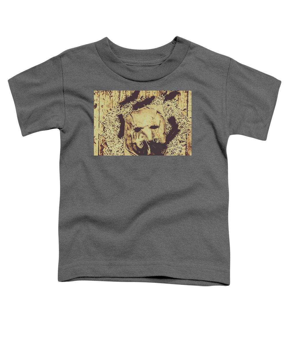 Mask Toddler T-Shirt featuring the photograph Old Outback Horrors by Jorgo Photography - Wall Art Gallery