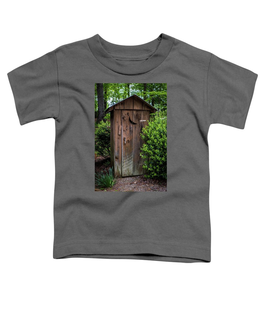 White Outhouse Toddler T-Shirt featuring the photograph Old Outhouse by Paul Freidlund