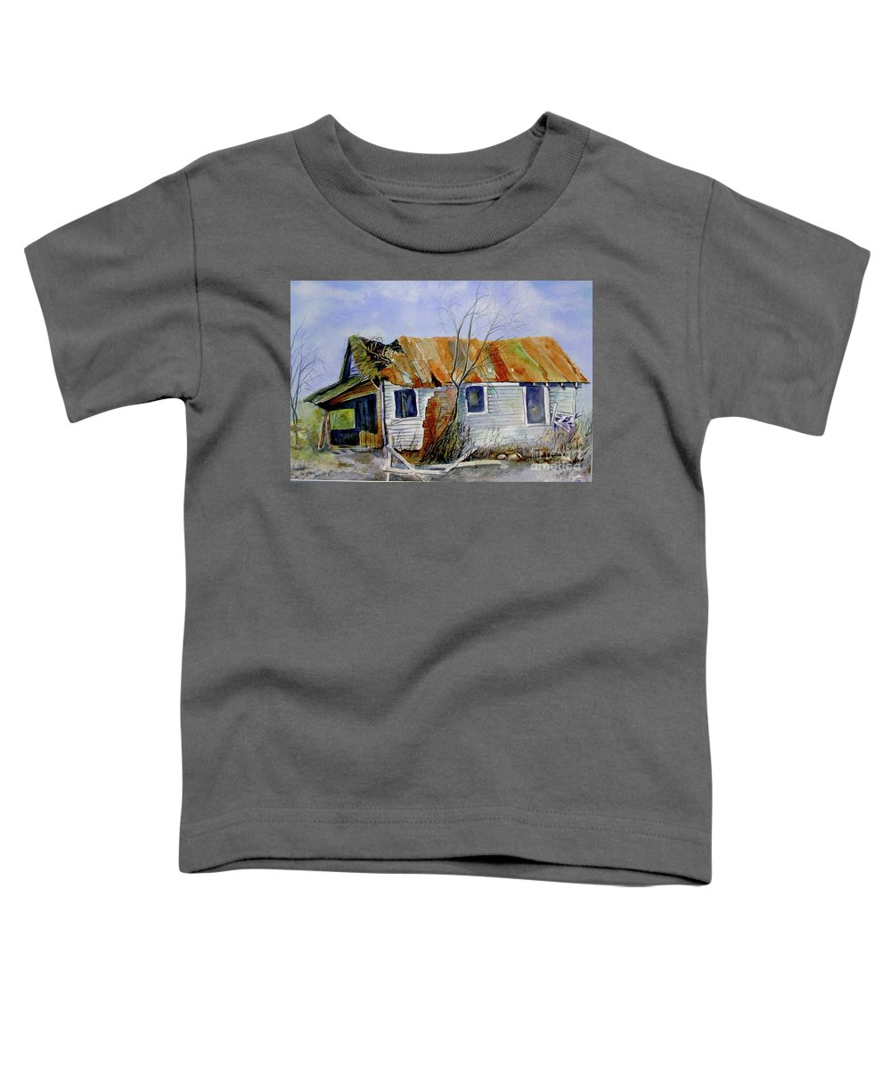 Shack Toddler T-Shirt featuring the painting Old Shack On Manatee by Midge Pippel