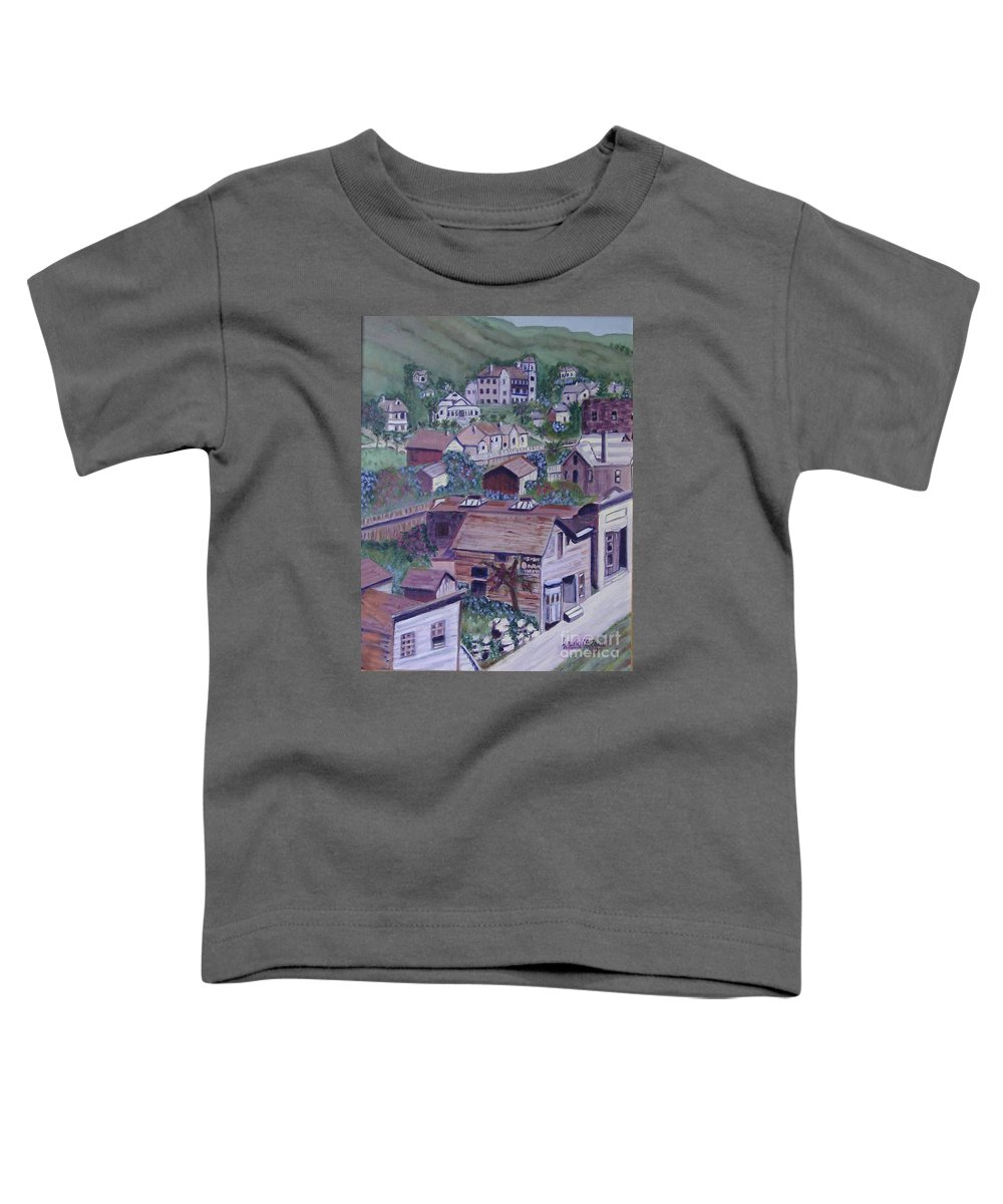 Ventura Toddler T-Shirt featuring the painting Old Ventura by Laurie Morgan