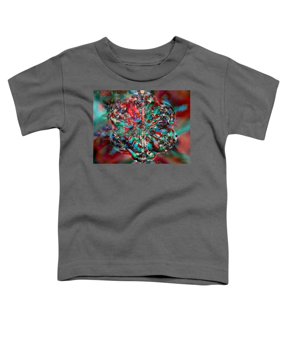 Heart Passion Life Toddler T-Shirt featuring the digital art Open Heart by Veronica Jackson