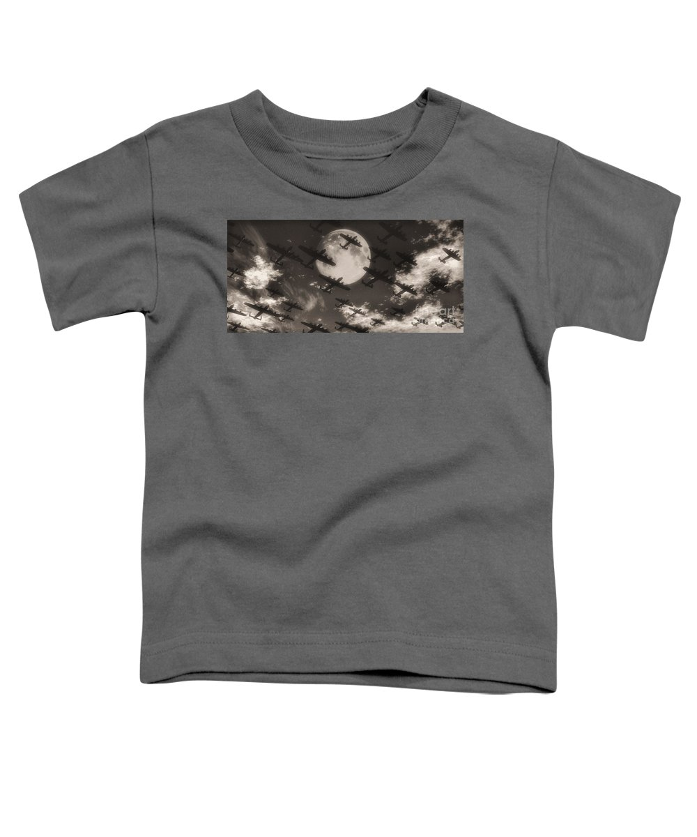Aviaton Toddler T-Shirt featuring the digital art Operation Moonlight by Richard Rizzo