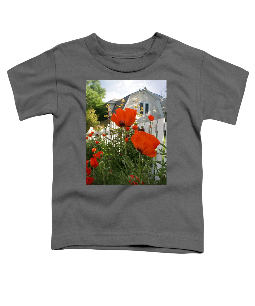 Poppies Toddler T-Shirt featuring the photograph Oriental Poppies by Heather Coen