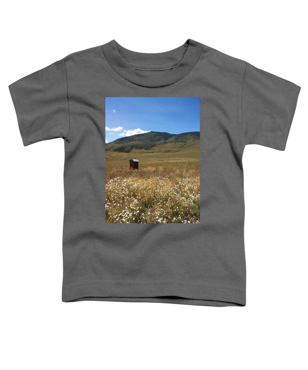 Charity Toddler T-Shirt featuring the photograph Out House by Mary-Lee Sanders