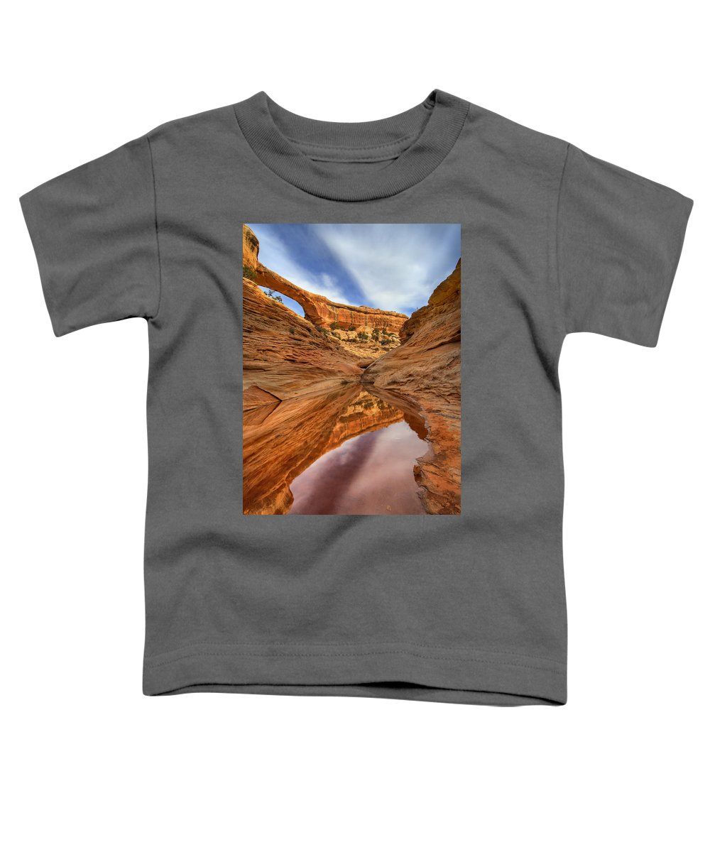 Bridge Toddler T-Shirt featuring the photograph Owachomo Reflected by Mike Dawson