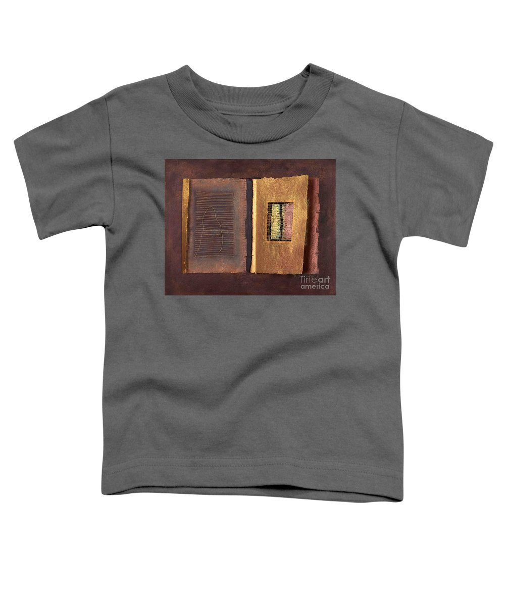 Pageformat Toddler T-Shirt featuring the painting Page Format No 2 Transitional Series by Kerryn Madsen-Pietsch