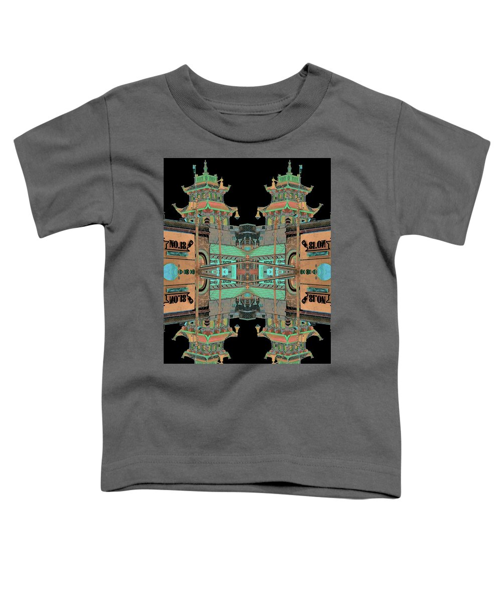 China Town Toddler T-Shirt featuring the photograph Pagoda Tower Becomes Chinese Lantern 1 Chinatown Chicago by Marianne Dow
