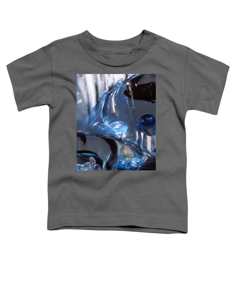 Glass Toddler T-Shirt featuring the photograph Panel 2 From Swirl by Steve Karol