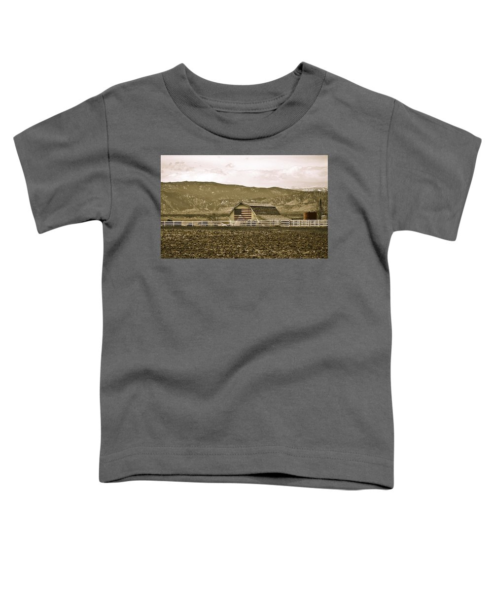 Americana Toddler T-Shirt featuring the photograph Patriotism And Barn by Marilyn Hunt
