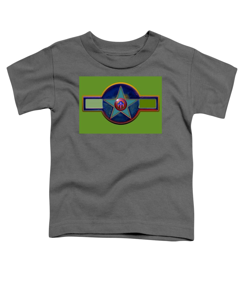 Usaaf Insignia Toddler T-Shirt featuring the digital art Pax Americana Decal by Charles Stuart