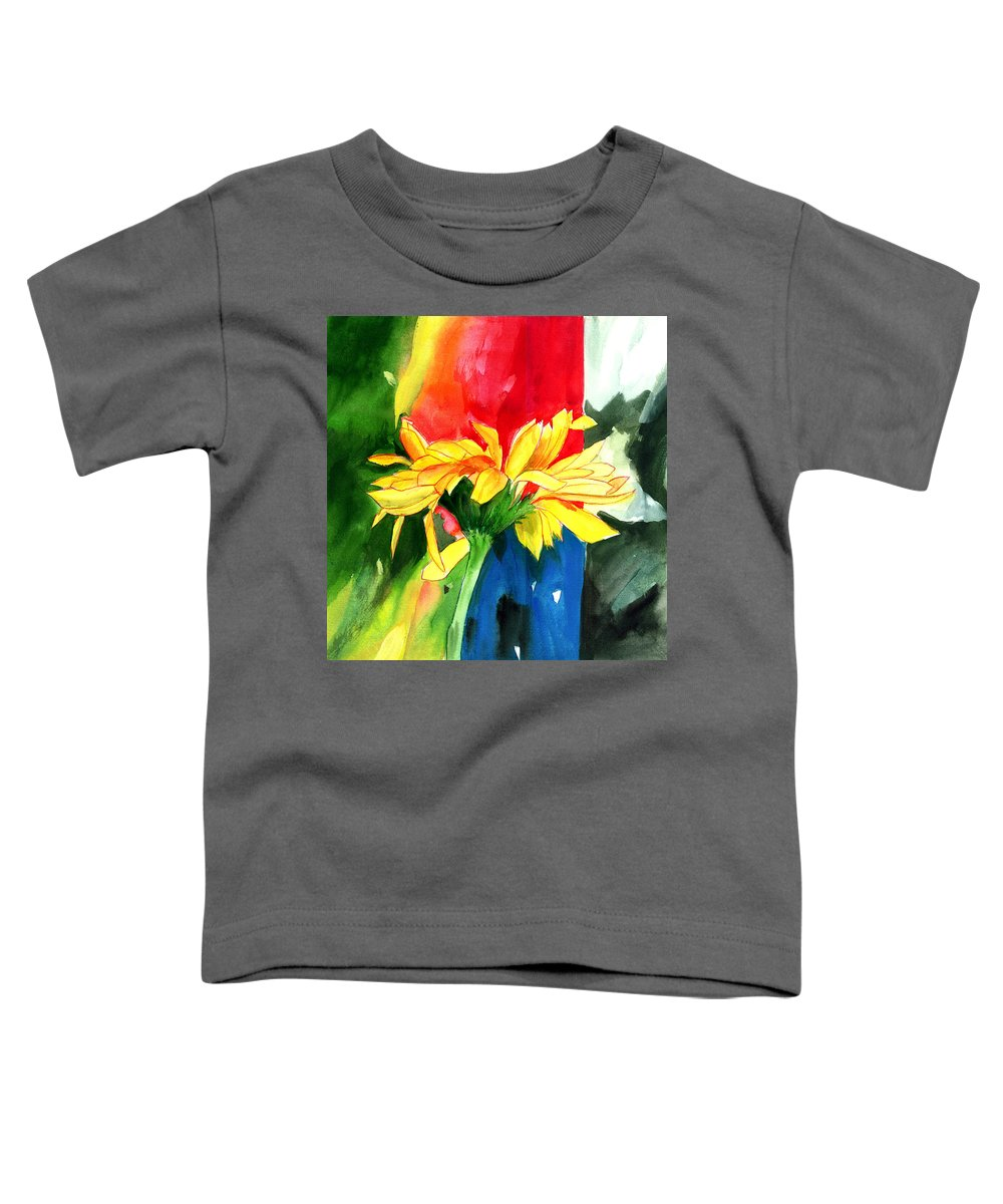 Peace Toddler T-Shirt featuring the painting Peace Square by Anil Nene