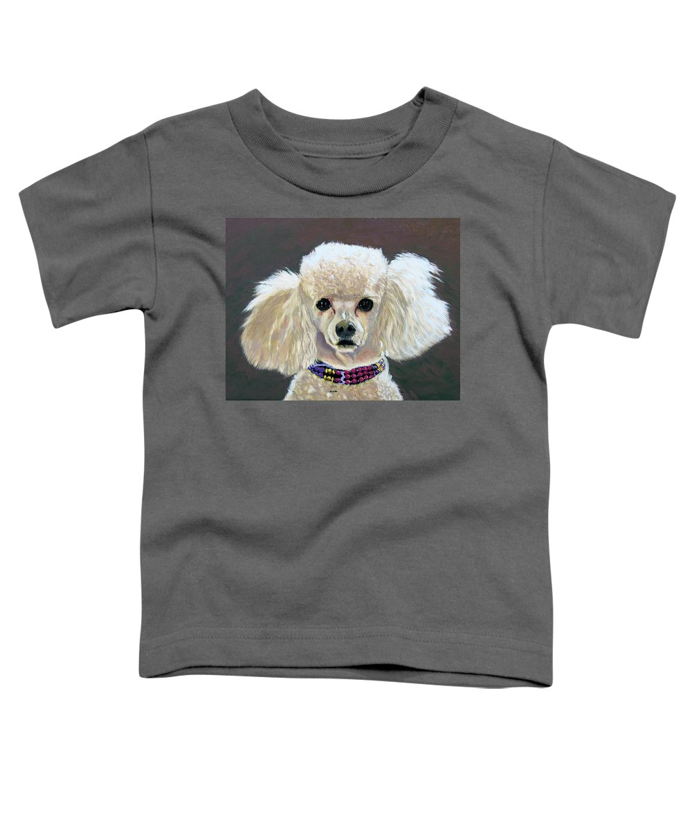 Dog Toddler T-Shirt featuring the painting Pebbles by Stan Hamilton