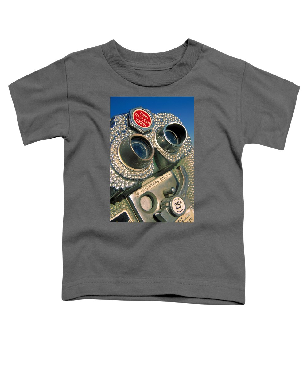 View Toddler T-Shirt featuring the photograph Peep Show by Skip Hunt