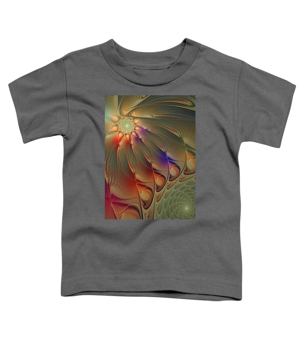 Digital Art Toddler T-Shirt featuring the digital art Petalia by Amanda Moore