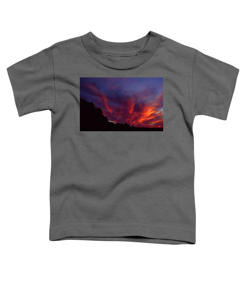Arizona Toddler T-Shirt featuring the photograph Phoenix Risen by Randy Oberg