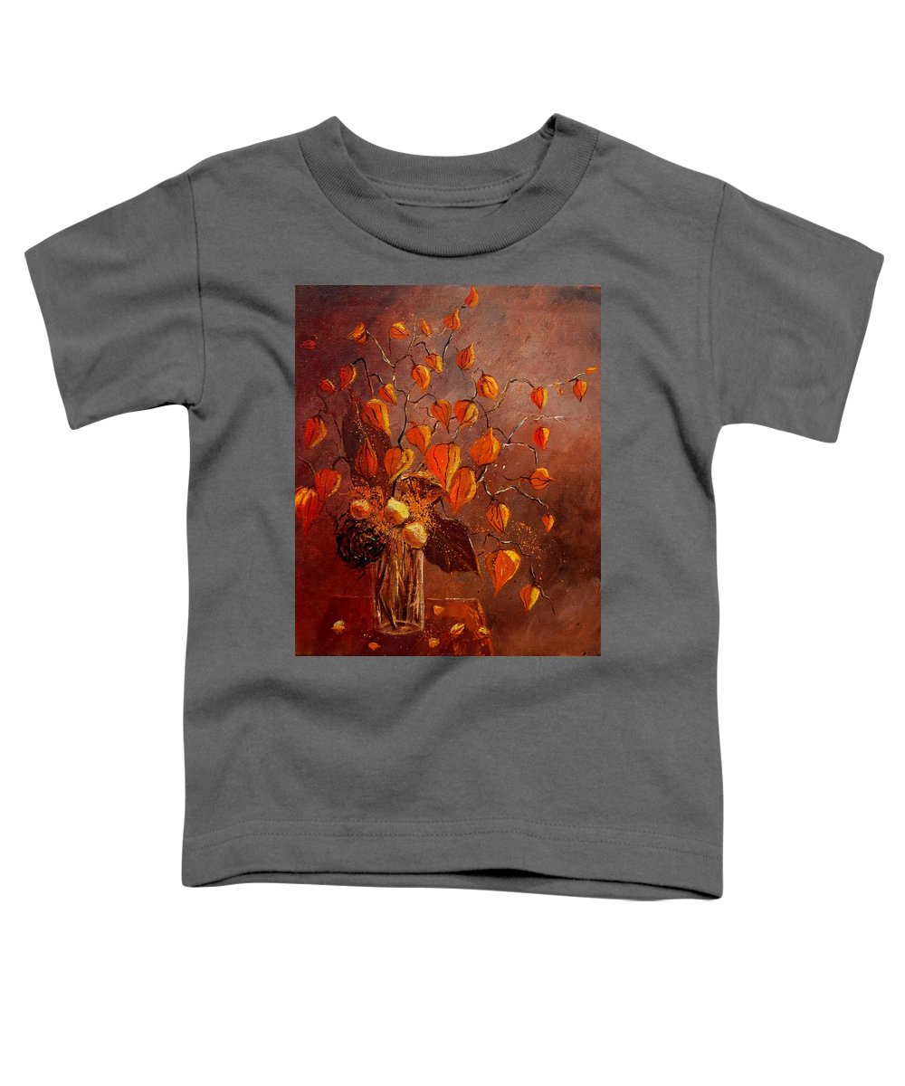 Poppies Toddler T-Shirt featuring the painting Physialis by Pol Ledent