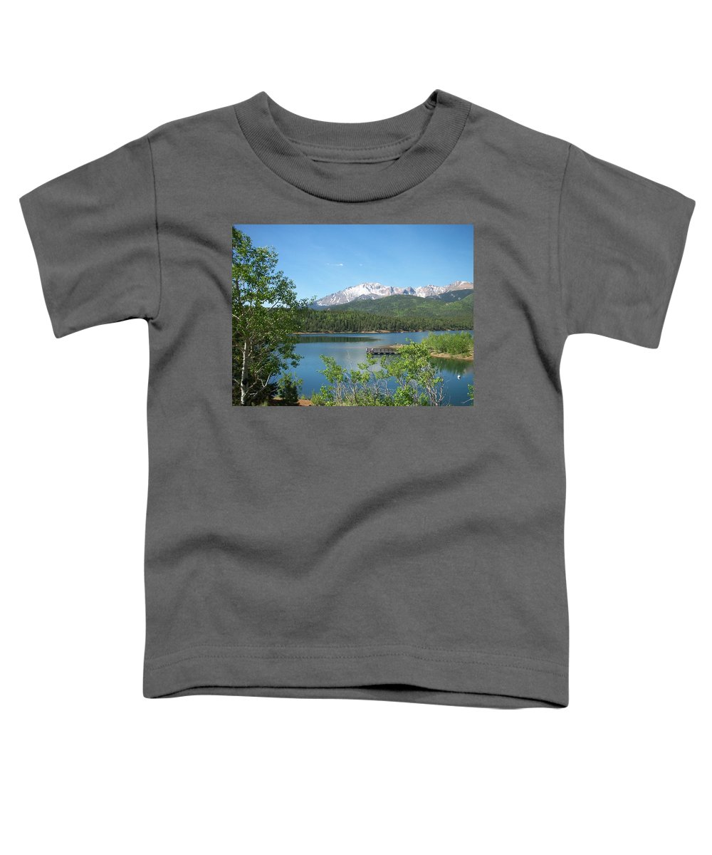 Colorado Toddler T-Shirt featuring the photograph Pike's Peak by Anita Burgermeister