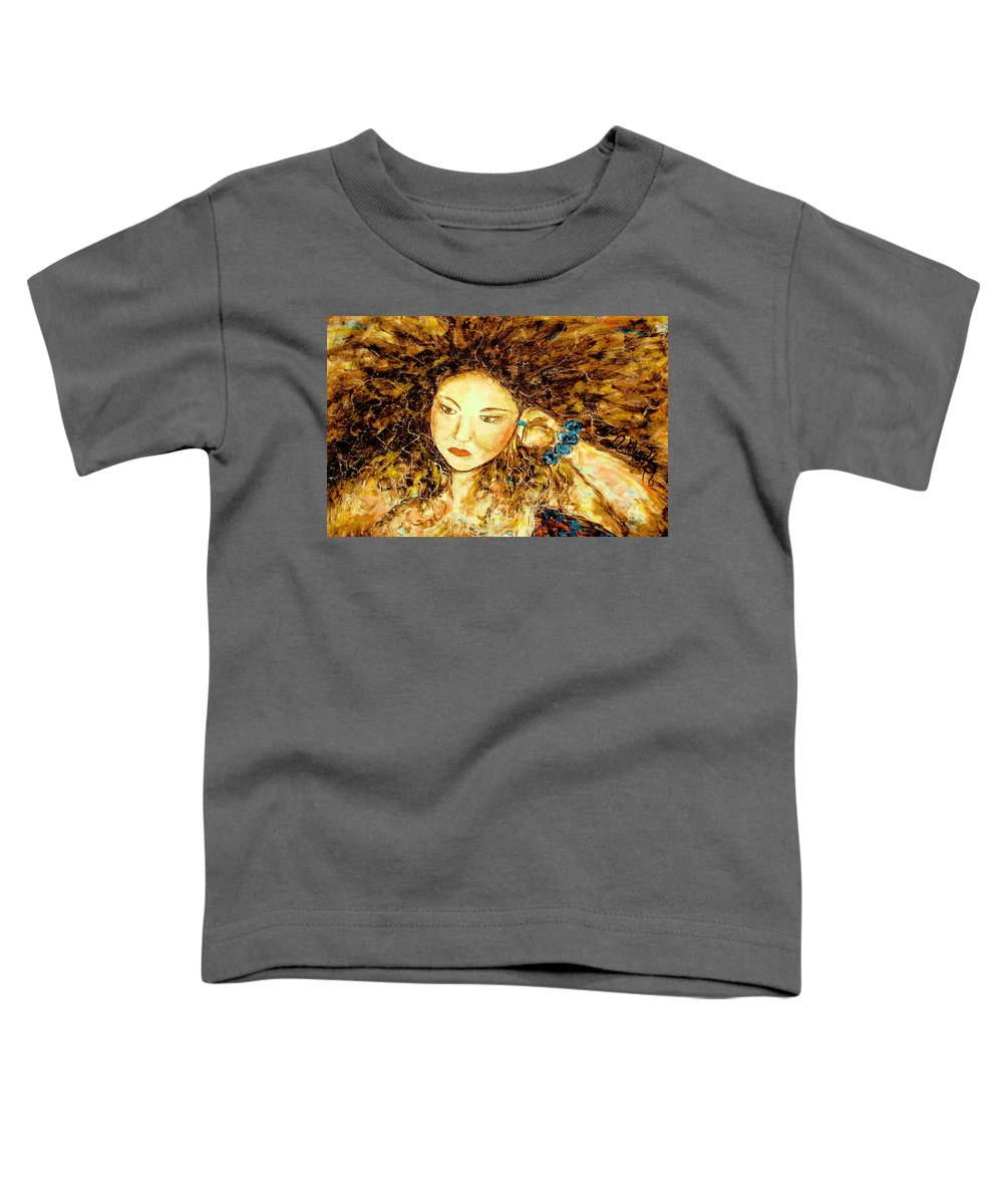 Portrait Toddler T-Shirt featuring the painting Poet by Natalie Holland