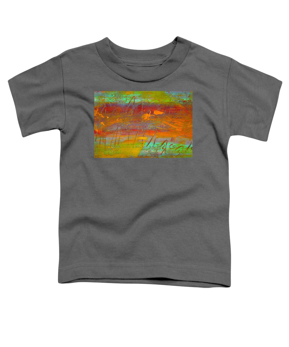 Abstract Toddler T-Shirt featuring the painting Prelude To A Sigh by Wayne Potrafka