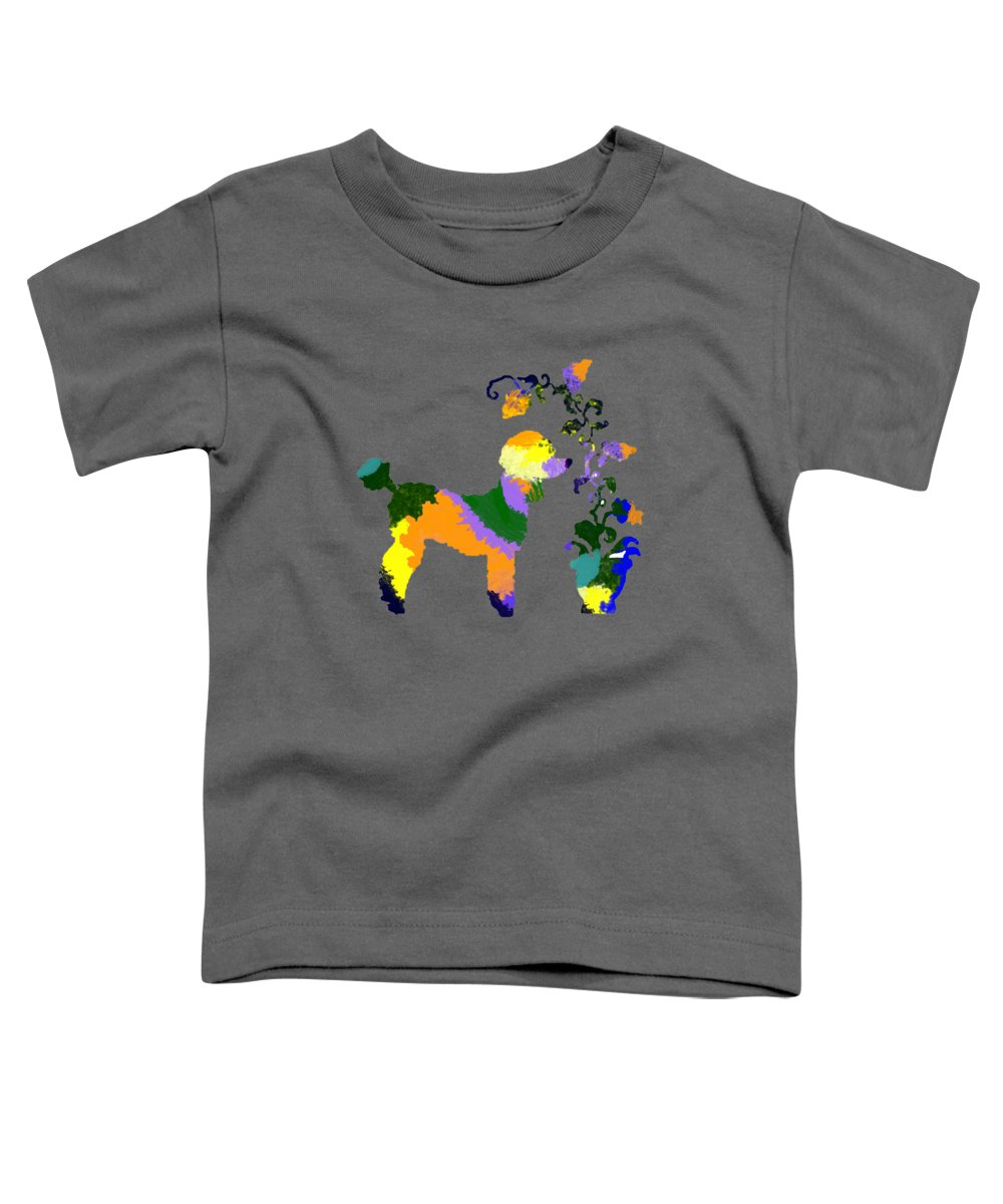 Nursery Toddler T-Shirt featuring the digital art Pretty Poodle 2 by Holly McGee