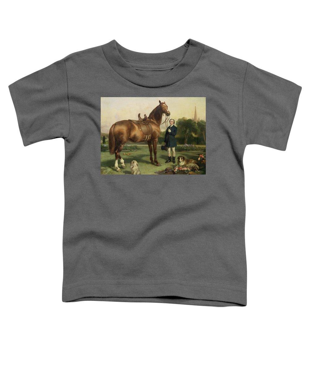 Pekinese Paintings Toddler T-Shirts