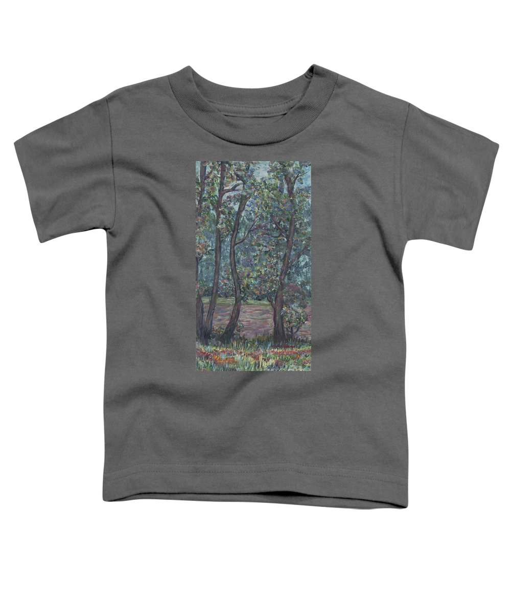 Landscape Toddler T-Shirt featuring the painting Provence Flowers by Nadine Rippelmeyer
