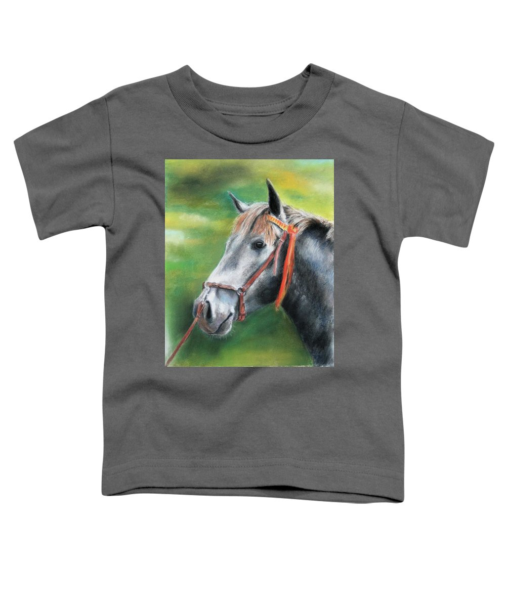 Horse Toddler T-Shirt featuring the painting Pure Spanish by Ceci Watson
