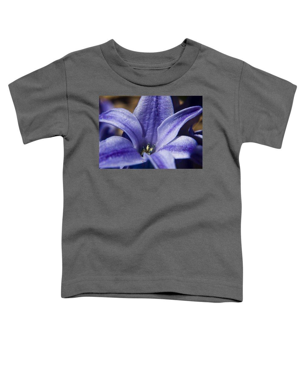 Hyacinth Toddler T-Shirt featuring the photograph Purple Hyacinth by Teresa Mucha